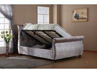 Mayfair Crushed Velvet Ottoman Bed (Double/King)