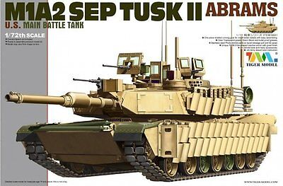 Used, Tiger Model 1/72 9601 US M1A2 SEP TUSKII ABRAMS Main Battle Tank for sale  Shipping to Canada