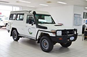 2009 Toyota Landcruiser VDJ78R Workmate (4x4) 3 Seat White 5 Speed Manual TroopCarrier Morley Bayswater Area Preview