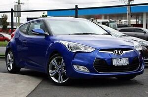 2012 Hyundai Veloster FS + Coupe Blue 6 Speed Manual Hatchback Coburg Moreland Area Preview