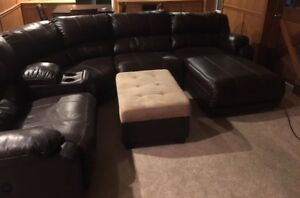Excellent Condition Real Leather Sectional