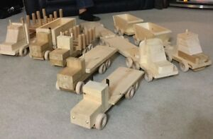 Hand Made Wooden Toy Trucks