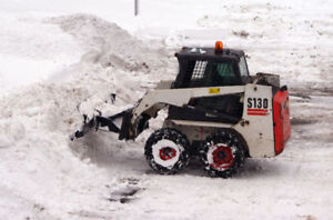 Snow Removal - Skid Steer with Blade Available for Rent