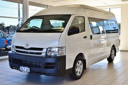 2010 Toyota Hiace KDH223R MY11 Upgrade Commuter White 5 Speed Manual Bus Hillman Rockingham Area Preview