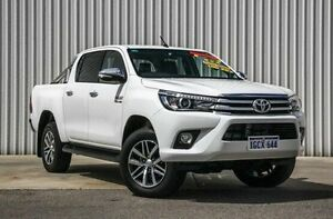 2015 Toyota Hilux GUN126R SR5 Double Cab White 6 Speed Sports Automatic Utility Willetton Canning Area Preview