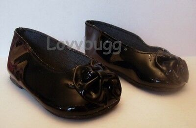 "Lovvbugg Black Bow Anklets for 23"" Girl Twinn Doll Shoes"