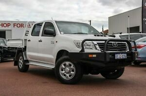 2012 Toyota Hilux KUN26R MY12 SR Double Cab White 5 Speed Manual Cab Chassis Balcatta Stirling Area Preview