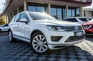 2015 Volkswagen Touareg 7P MY16 V6 TDI Tiptronic 4MOTION White 8 Speed Sports Automatic Wagon Alfred Cove Melville Area Preview