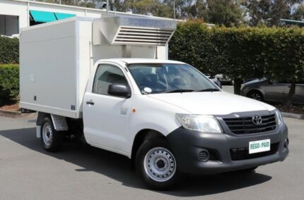 2012 Toyota Hilux TGN16R MY12 Workmate 4x2 White 5 Speed Manual Cab Chassis Acacia Ridge Brisbane South West Preview