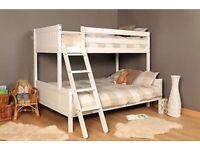 Triple Wooden Pine Heavy Duty Bunk Bed