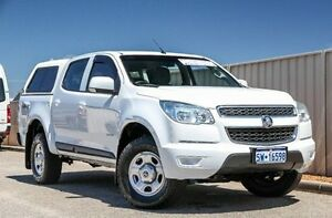 2013 Holden Colorado RG MY13 LX Crew Cab White 6 Speed Sports Automatic Utility Wangara Wanneroo Area Preview
