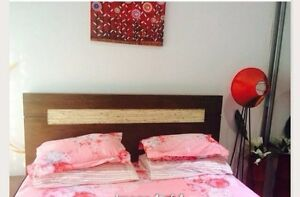 Queen size bed , bed side tables, tallboy , mattress Greenacre Bankstown Area Preview