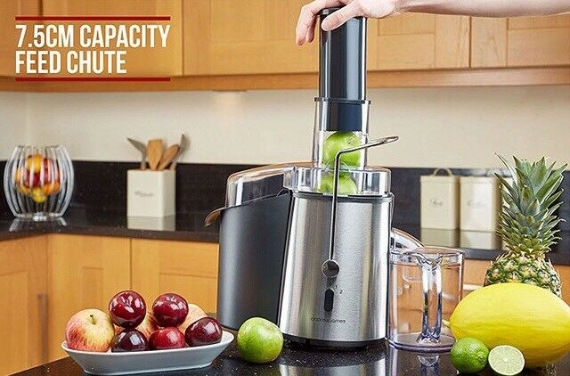 Andrew James Chrome Whole Fruit Power Juicer Vegetable