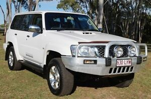 2008 Nissan Patrol GU 6 MY08 ST Polar White 5 Speed Manual Wagon Bundaberg West Bundaberg City Preview