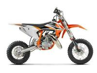 KTM 50 SX - 2022 - TAKING ORDERS NOW!