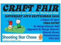Saturday 10th September 2016 - TWICKENHAM CRAFT FAIRS - St Marys Church Hall, Twickenham - Charity
