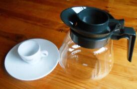 2 Dozen Espresso Cups & Saucers + 1.7L Pyrex Jug