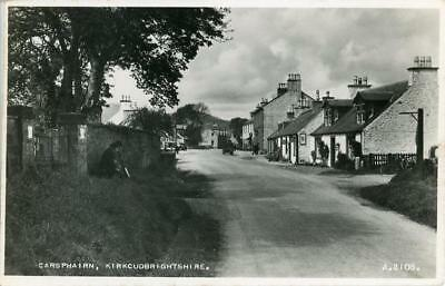 REAL PHOTO POSTCARD OF CARSPHAIRN, (NEAR DALRY), KIRKCUDBRIGHTSHIRE, SCOTLAND