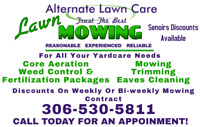 Trust Alternate Lawn Care for all your lawn care needs!
