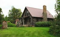 Idyllic Adirondack Log Cottage near Mooers NY