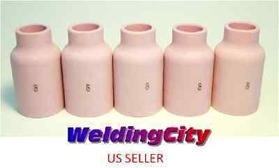 5-pk Tig Welding Ceramic Gas Lens Cup 54n14 8 Torch 171826 Us Seller Fast