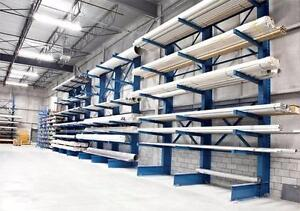 CANTILEVER RACKING - STORE LONG HEAVY MATERIAL - BAR, LUMBER, PIPE