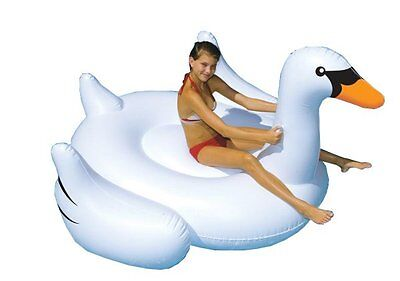 Swimline Giant Inflatable Ride-On 75-Inch Swan Float For Swimming Pools | 90621](Giant Inflatable)