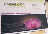 2 Gift Certificates (for 1 hour Massages)