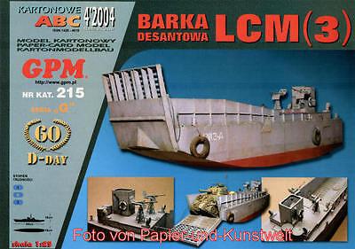 GPM 215 - Landungsboot LCM (3) für z.B. Sherman - 1:25