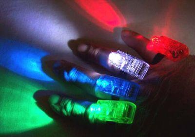 1 set COLORED FINGER BEAM LIGHT hand dance party lights disco novelty hand ring