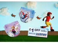 4 x £1 coupons off any pack of DryNites