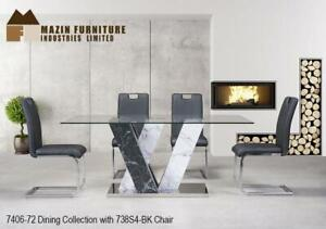 Contemporary Glass Dining Table Set With 4 Chairs for only $799.