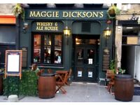 Assistant general manager required for busy grassmarket bar/restaurant