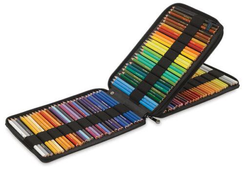 New Global Art Materials Inc BLACK CANVAS PENCIL CASE (Holds 120 Pencils)