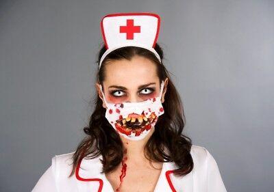 r Zombie Mundschutz zum Halloween Horror Outfit (Halloween zubehör)