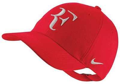 418deedd96d2a New Nike RF Aerobill H86 Cap Roger Federer Hat Tennis Dri Fit AH6985-657 Red