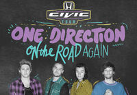 One Direction Tickets Ford Field August 29 Lower Bowl