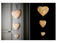 SET OF 3 HANGING HEARTS