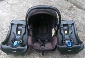 Joie car seat & 2 bases