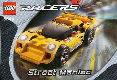 Lego Racers Street Maniac (8644) 100% Complete with Instructions, No Box