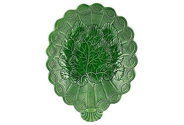 Antique English Majolica Leaf Plate