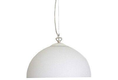(Kirch Apollo Glass Dome Pendant Light, White)
