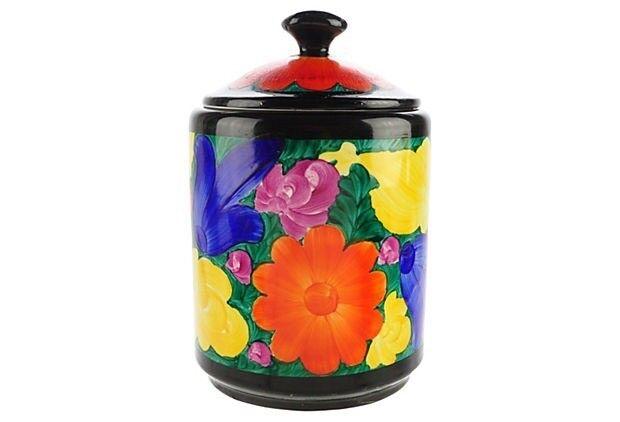 Czech Art Deco Mrazek Hand-Painted Jar