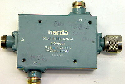 Narda Dual Directional Coupler 0.82-0.98 Ghz 30243