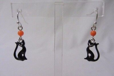 AVON COSTUME JEWELRY SPOOKY NIGHTS HALLOWEEN BLACK CAT EARRINGS MIB - Halloween Earrings Avon