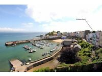 Tenby Harbour/Sea view 4 person holiday apartment 1 double 2 single beds