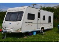 Fixed Bed 2008 Bailey Senator Indiana Series 6. 4 berth. Motor Mover and Full Awning. Excellent Con.