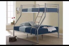 【STRONG QUALITY 】TRIO METAL BUNK BED FRAME DOUBLE BOTTOM & SINGLE TOP HIGH QUALITY