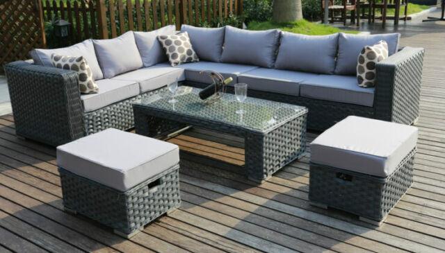 Garden Furniture Corner Sofa rattan corner sofa: garden & patio furniture | ebay