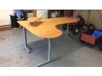 Large IKEA Galant Pine Corner Desk - BARGAIN!